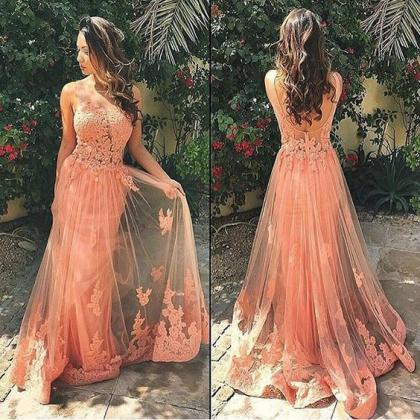 Lace Prom Dresses,Long Prom Dress,D..