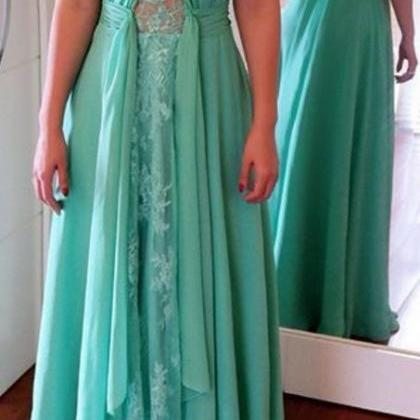 Long Prom Dresses ,Green Prom Gowns..