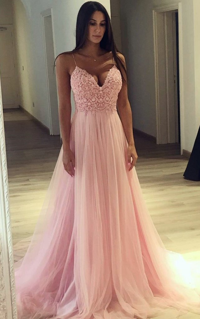 2fc3f20a1486 Prom Dress With Thin Straps