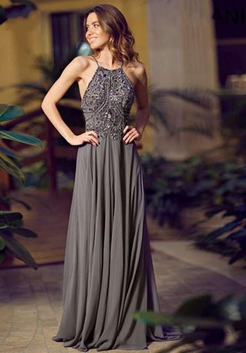 8bb017d8ff Luxury Beaded Chiffon Long Prom Dress