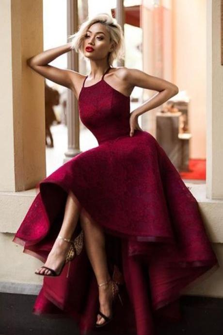 Charming Prom Dress,High Low Prom Dress, Maroon Prom Dress,Prom Dress ,Special Ocassion Dresses,Formal Party Dress,Dress For Teens,Graduation Dress,M000150