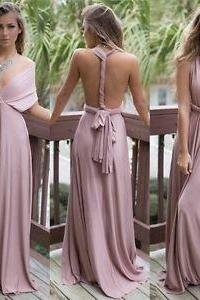 Women Formal Wedding Bridesmaid Long Evening Party Ball Prom Gown Cocktail Dress M1631