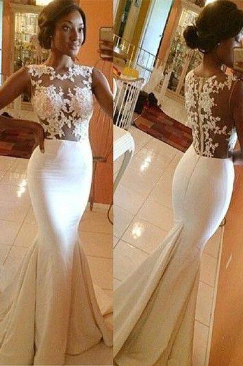 Newest Appliques Mermaid Prom Dresses,Long Evening Dresses,Prom Dresses M1710