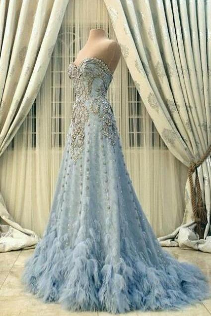 New Arrival Prom Dress,Modest Prom Dress,Prom Dresses,Party Dresses,Flower wedding dress,blue wedding dress,blue wedding dress,wedding dress M2782