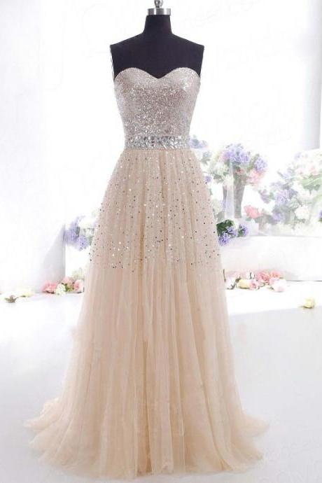 A-Line/Princess Sweetheart Tulle Sleeveless Floor-Length Dresses M2792