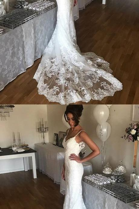 Romantic Sweetheart Lace Mermaid Wedding Dresses M3050