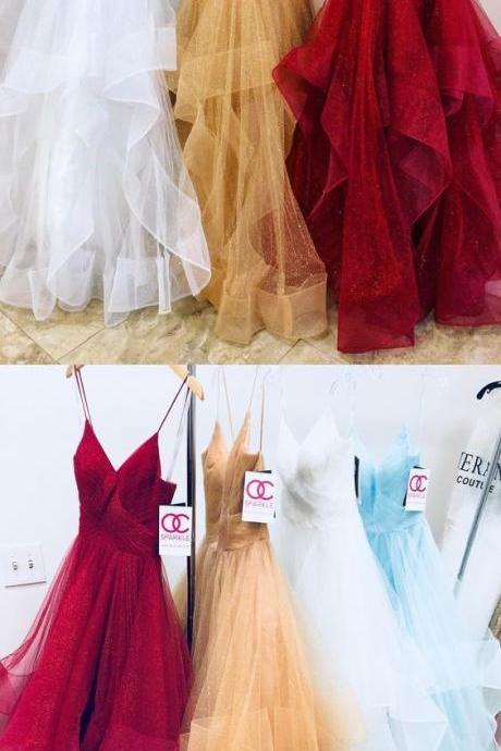 long prom dresses, gorgeous straps prom dress, white long prom dress, champagne prom dress, red prom dress M3621