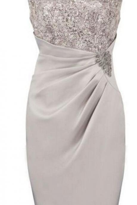 Sliver mother of the bride dresses,sheath mother of the bride dresses M6138