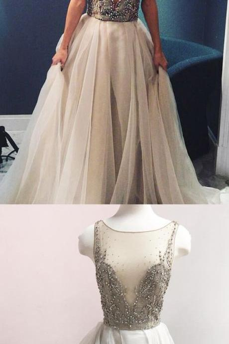 long wedding dress, 2019 wedding dress, luxurious beaded long wedding dress bridal gown M6251
