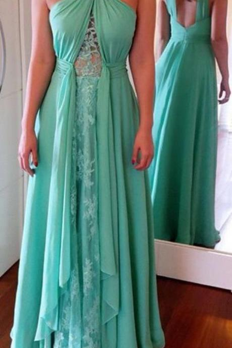 Long Prom Dresses ,Green Prom Gowns, Beading Prom Dresses M6434