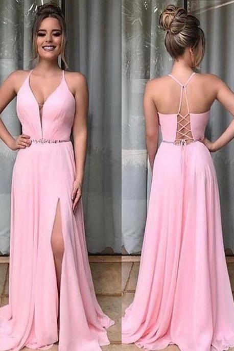 New Arrival Spaghetti Straps A-Line Prom Dresses,Long Prom Dresses,Charming Prom Dresses, Evening Dress Prom Gowns M6804