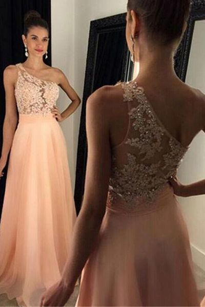 A-line Long Prom Dress with Applique and Beading, Fashion Winter Dance Dress,Formal Dress M7855