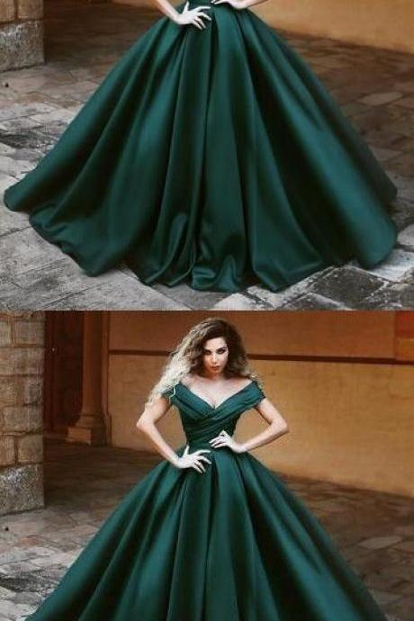 V-neck Prom Dresses,Off The Shoulder Prom Dresses,Long Prom Dresses,Ball Gowns M7943
