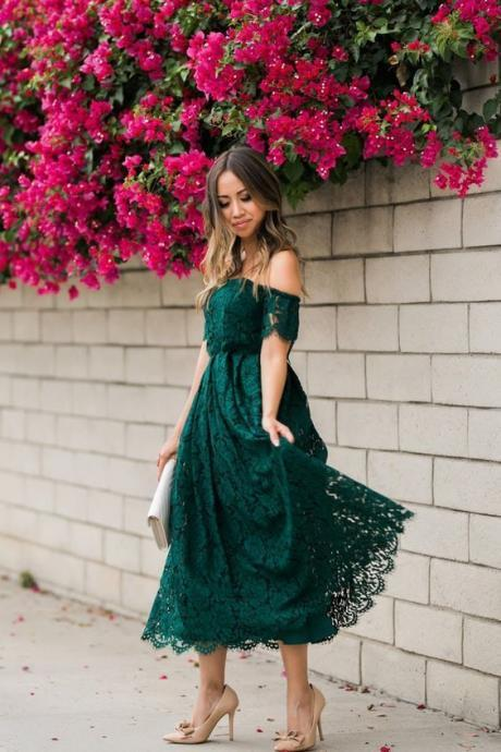 Sexy Backless Off The Shoulder Lace Prom Dresses M8054