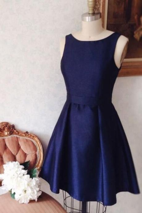 simply homecoming dresses, short navy blue homecoming dress M8288