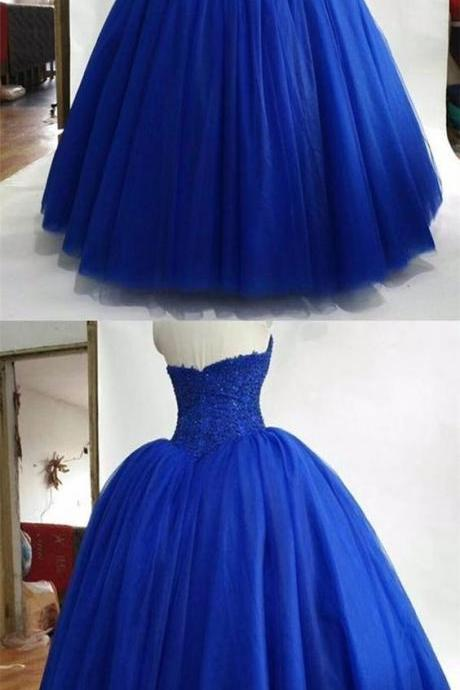 royal blue ball gowns quinceanera dress,royal blue wedding dresses,ball gowns prom dresses M8592