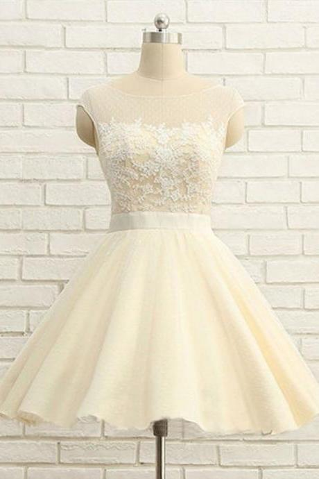 Cute O-Neck Homecoming Dresses,Short Prom Dresses,Cheap Homecoming Dresses M9026