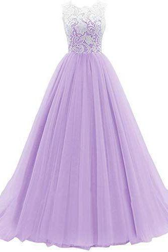 Prom Long Prom Dress Tulle M9498