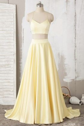 long prom dress yellow formal dress m525