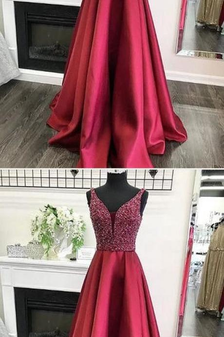 Sparkly Red Long Prom Dress Evening Dress,Prom Dresses,Evening Dress, Prom Gowns m531