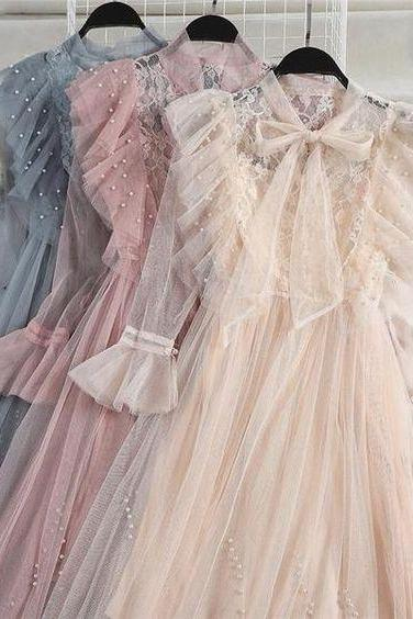 Ruffle Pleated Tulle Dress m538