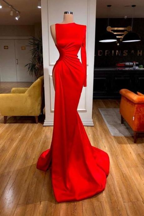 red prom dress evening Gown m554