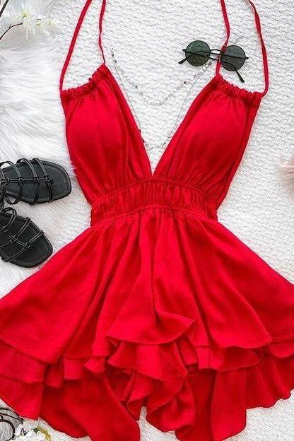 Homecoming Dresses red Mini Short Cocktail Dress Party Gowns Prom Dress m3915