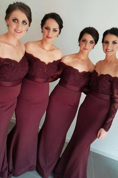 bridesmaid dress,2017 prom dresses,bridesmaid dresses,prom dresses,long mermaid evening dresses, burgundy prom dresses
