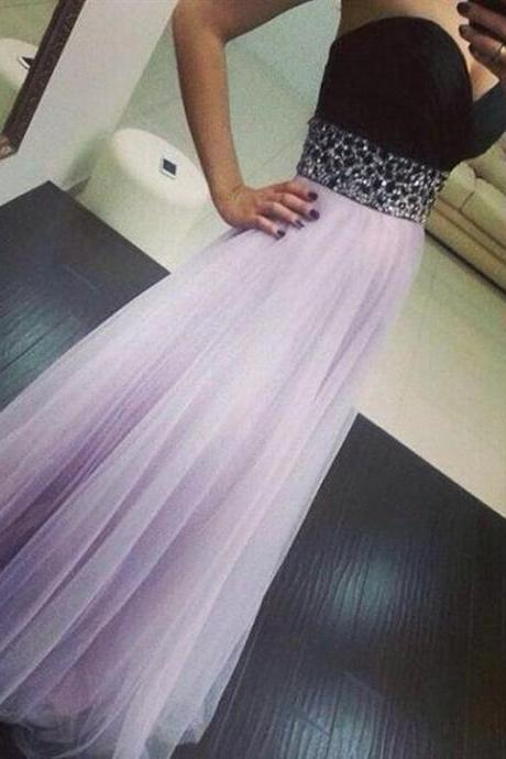 Charming Prom Dress,Sexy Prom Dress,Tulle Lavender Prom Dress,Long Homecoming Dress