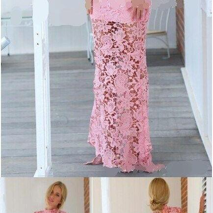 Pink Lace Prom Dress,Sleeveless Prom Dresses,Mermaid Evening Dresses,Sexy Party Dress,Custom Made Evening Dress M5725