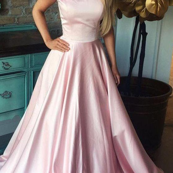 gorgeous off the shoulder pink long prom dress M6433