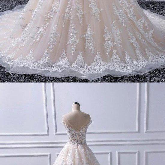 Custom made lace tulle long prom gown, evening dress M7071