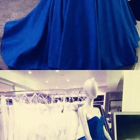 Royal Blue Wedding Dresses,Ball Gowns Wedding Dress,Sweetheart Wedding Dress M7083