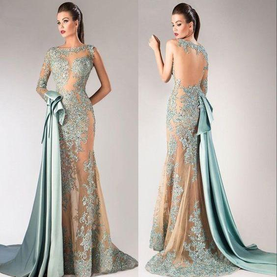 Sexy Long Prom Dresses Party Pageant One Shoulder See Through Formal Evening Dresses Wedding Gowns M7856