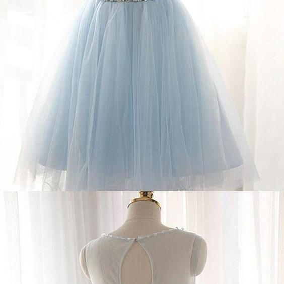 CHARMING TULLE SHORT PROM DRESSES HOMECOMING DRESSES M8634