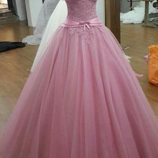 Simple Long Tulle Dress Prom Dress Graduation Dress m1829