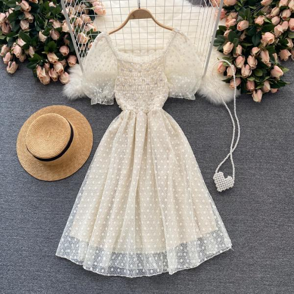 Cute lace short dress fashion dress